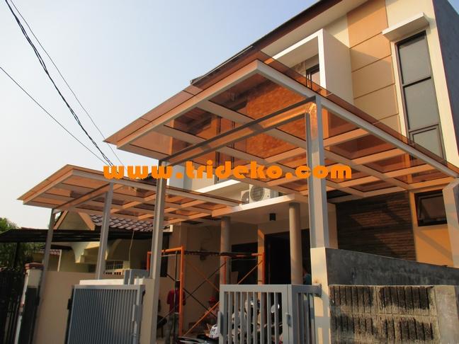Atap carport kaca minimalis
