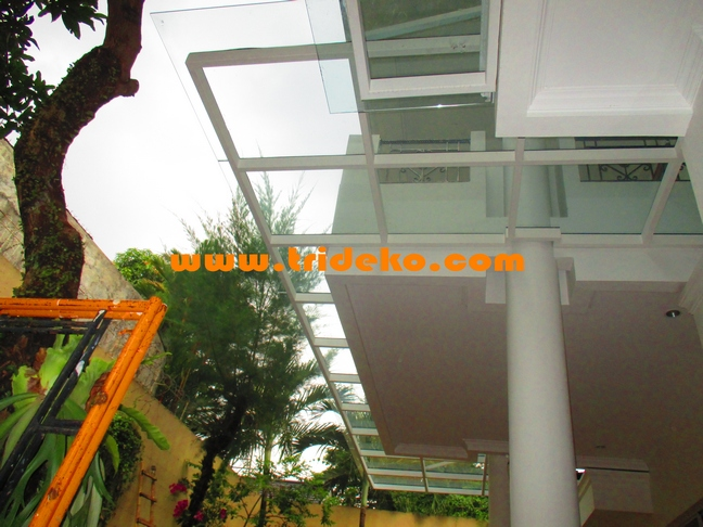 canopy carport kaca